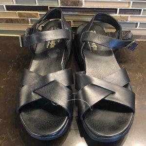 Skechers shape-ups black leather sandals